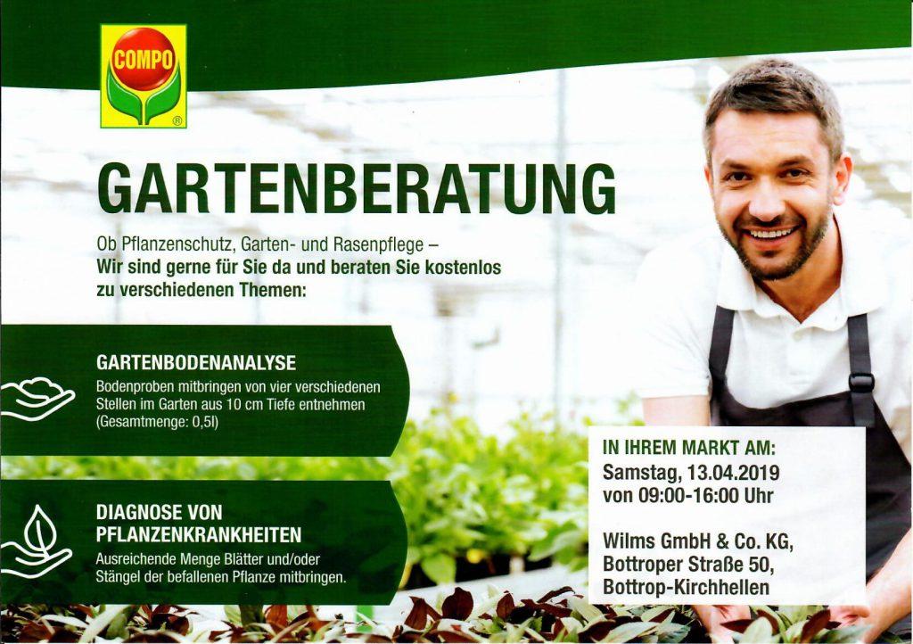 Compo Gartenberatung am 13.04.2019 von 9.00 -16.00 Uhr